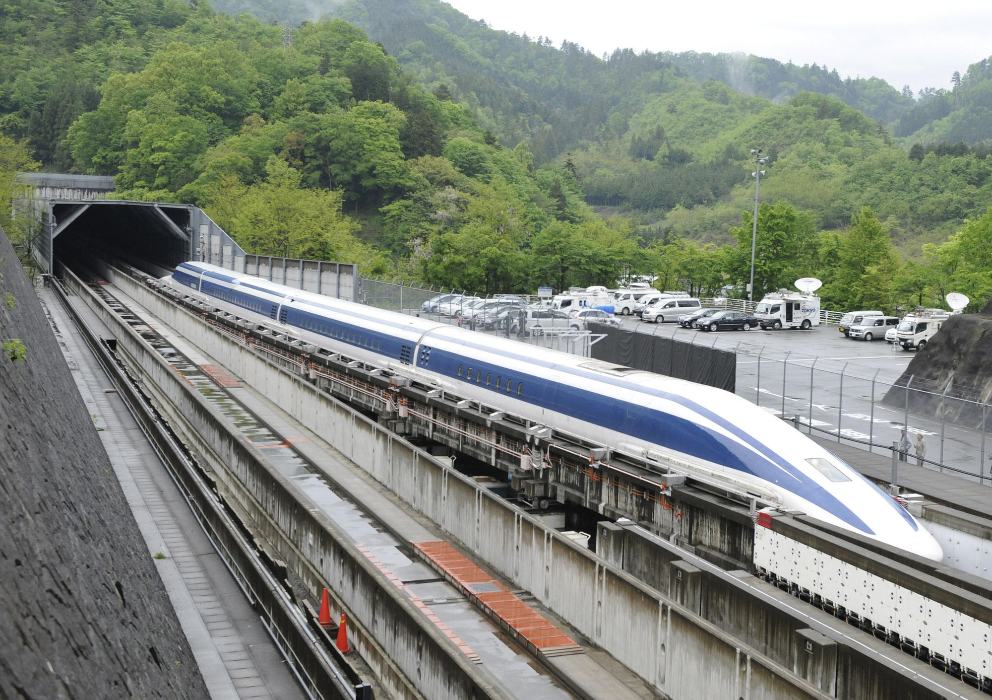 It can be done': Futuristic Japanese maglev train could