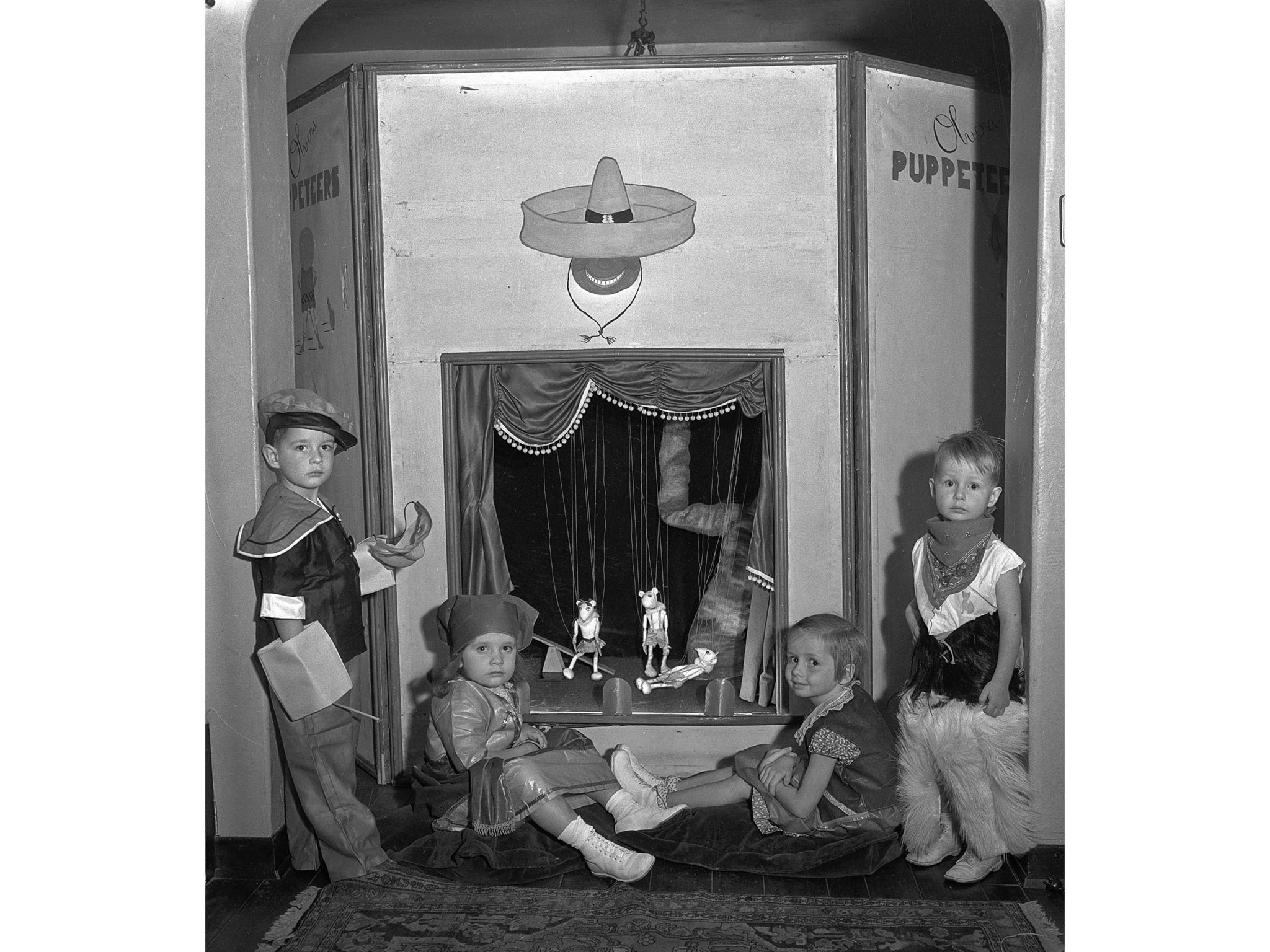 Oct. 31, 1935: Unidentified children in costume for Halloween party at the Hollywood home of Mr. and