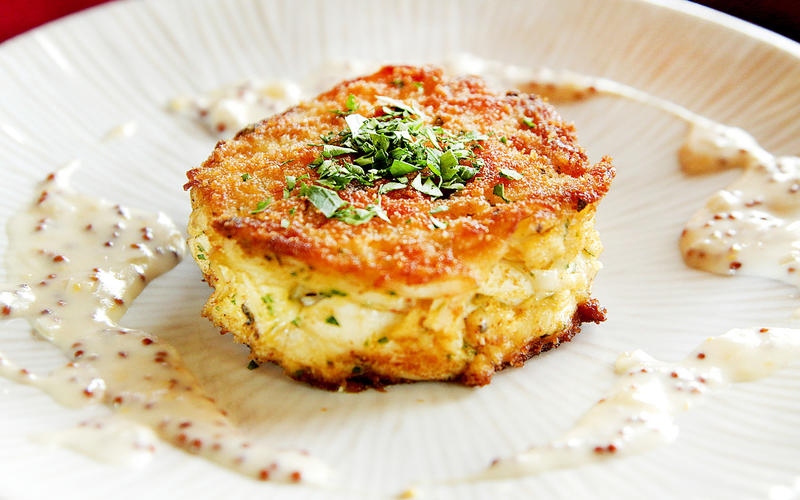Jumbo lump crab cakes from Gulfstream