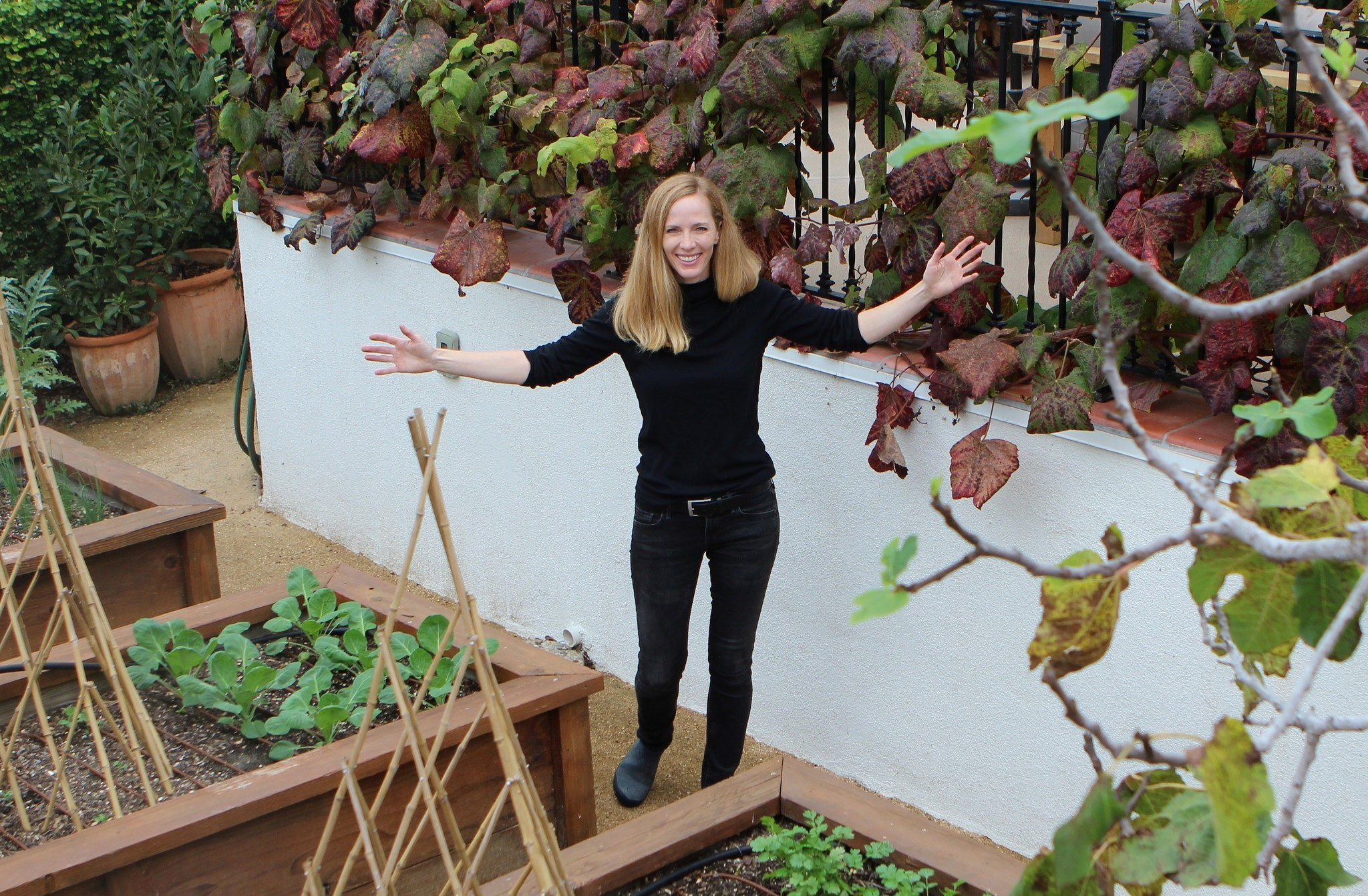 Erin McConkey takes pride in her urban farm.