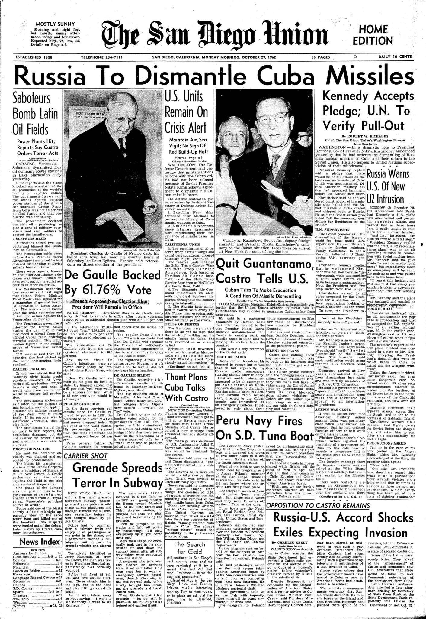 October 29, 1962
