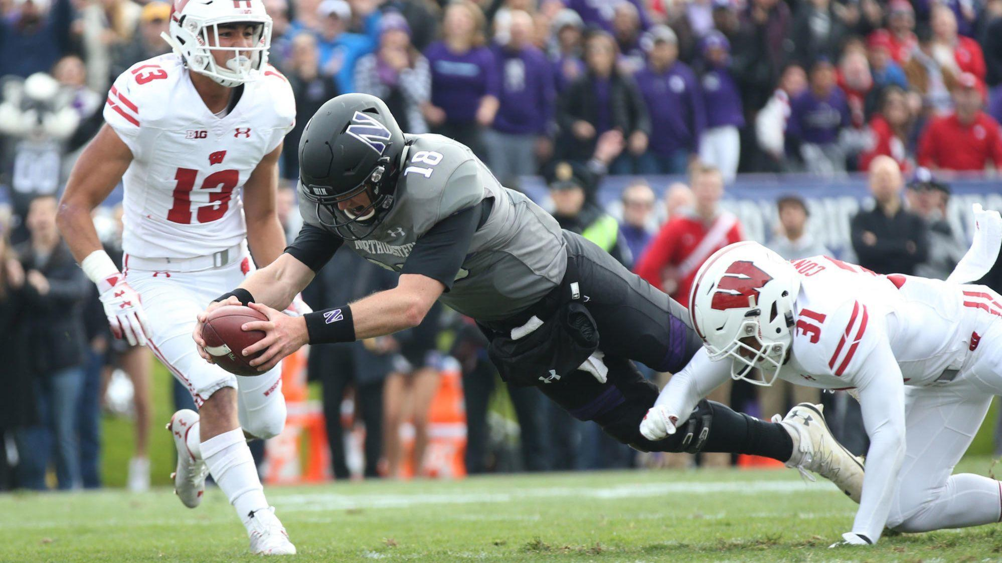 800a3609b Northwestern takes down Wisconsin 31-17 to stay in Big Ten West driver s  seat - Chicago Tribune