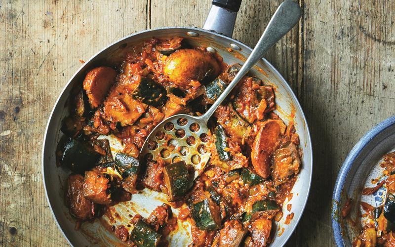 Gurmit Kaur's eggplant masala