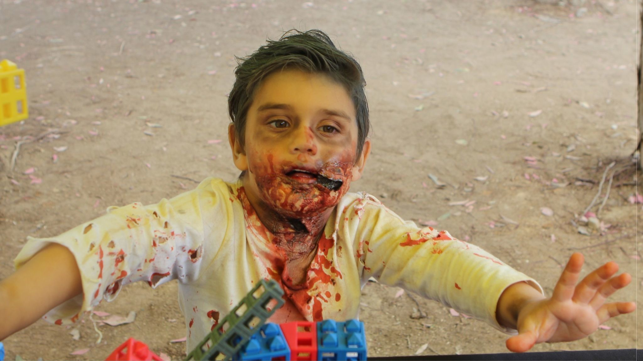 La Jolla resident Kingston Johnson, 3, prefers zombies to scientists.