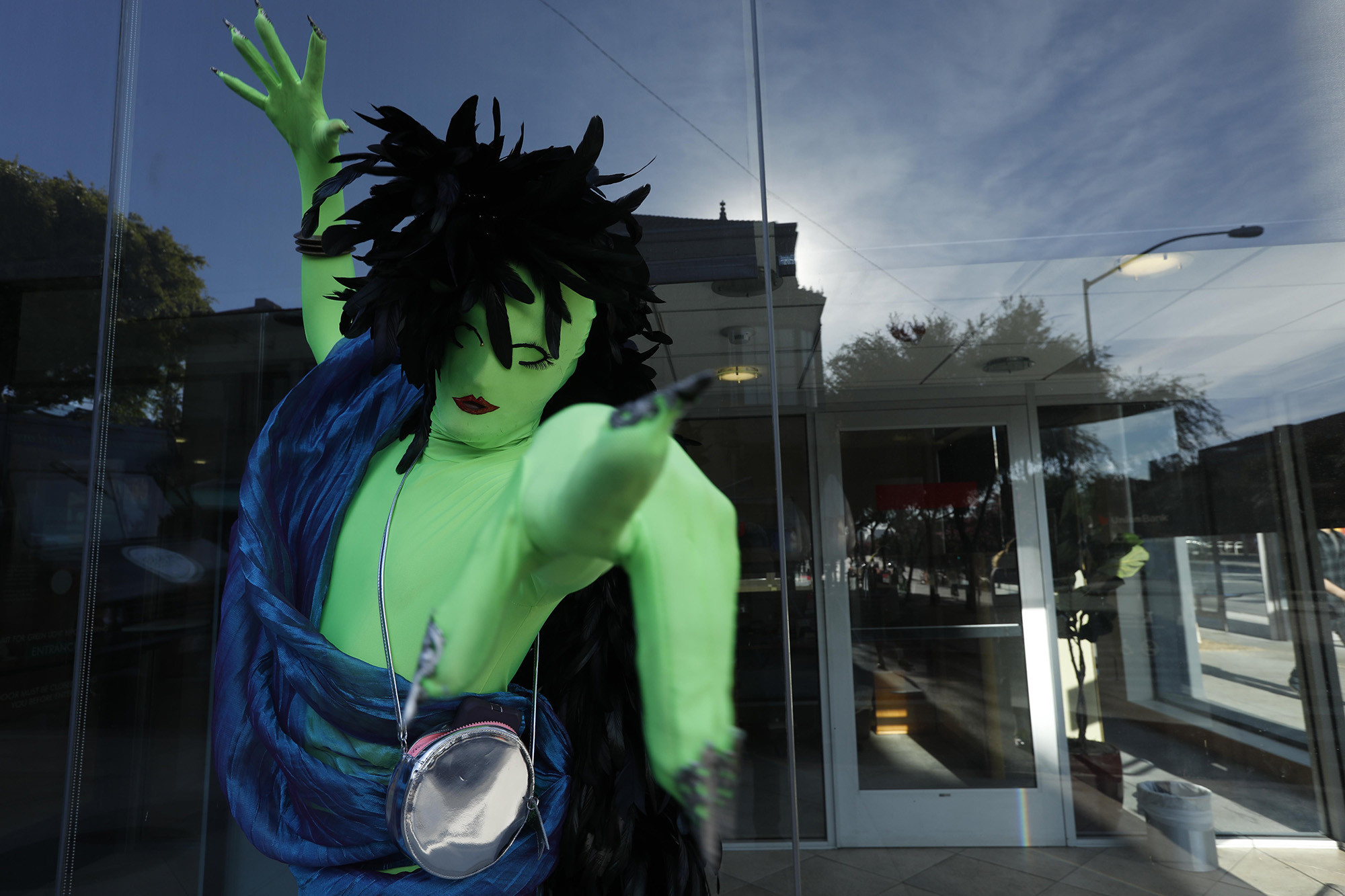 WEST HOLLYWOOD, CA – OCTOBER 31, 2018 - - Houston Heller gets into character while attending the ann