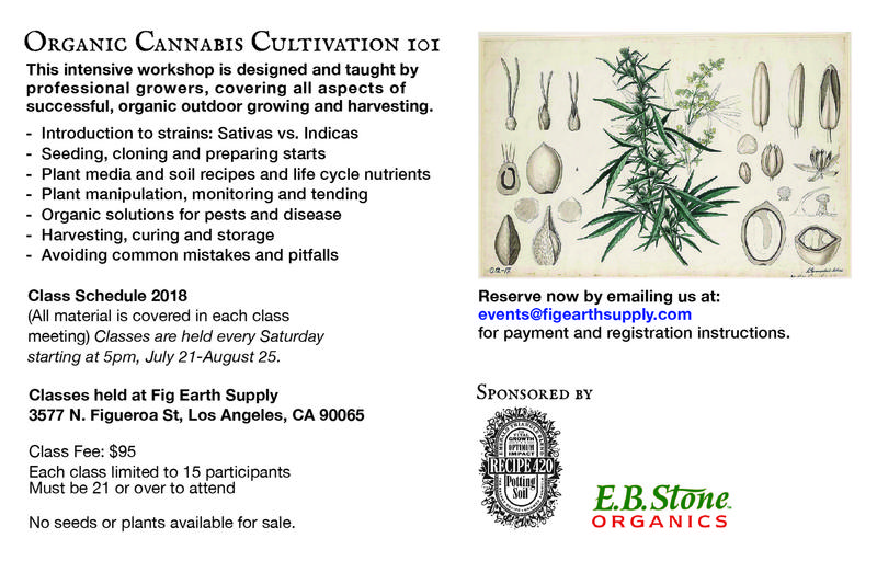 Cannabis classes for the home grower