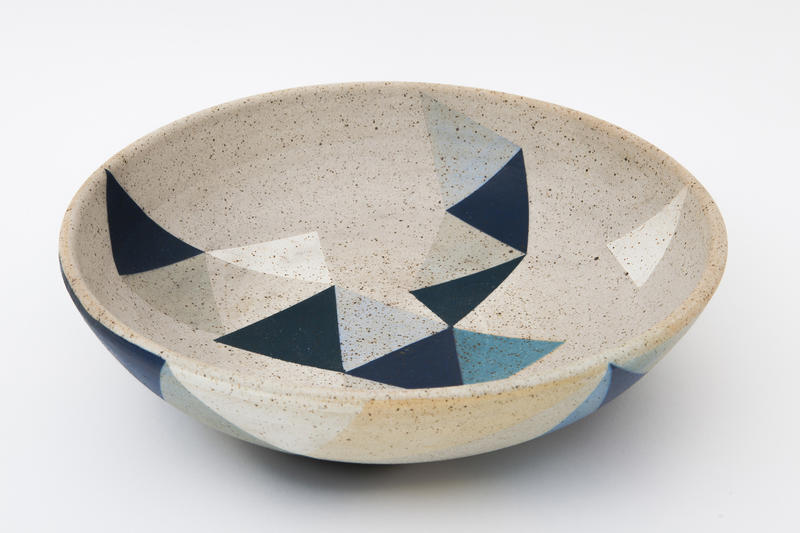 Ceramicists Adi Mizrahi and Ron Hellmann incorporate playful geometry and stunning colorways into their locally made wares: Their Mizrahi Hellman Ceramics can be found at The Arc boutique at 5121 Hollywood Blvd. in Los Feliz, and online.