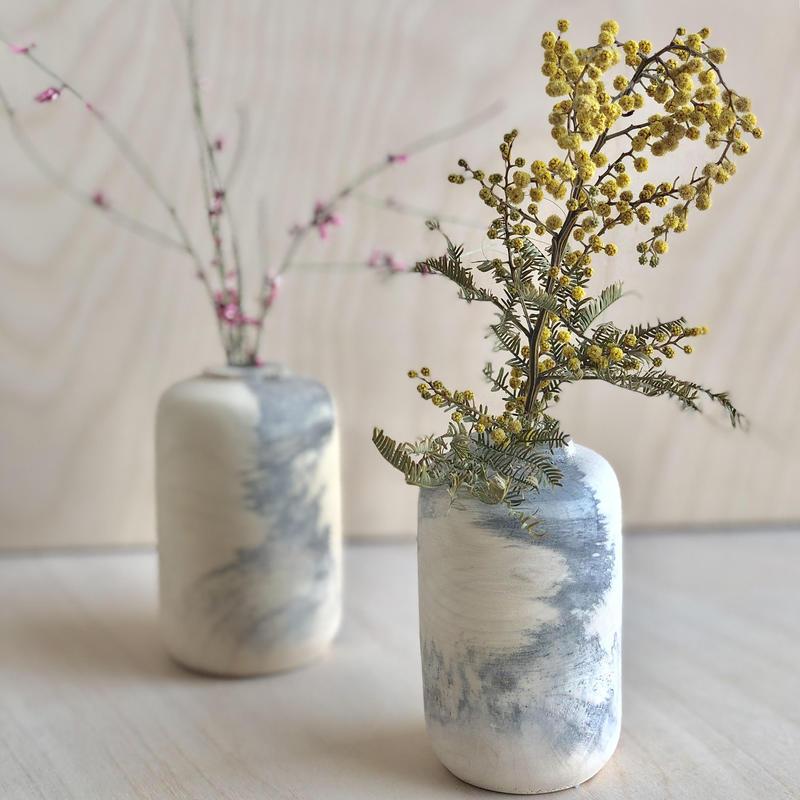 Melanie Abrantes burl wood vases