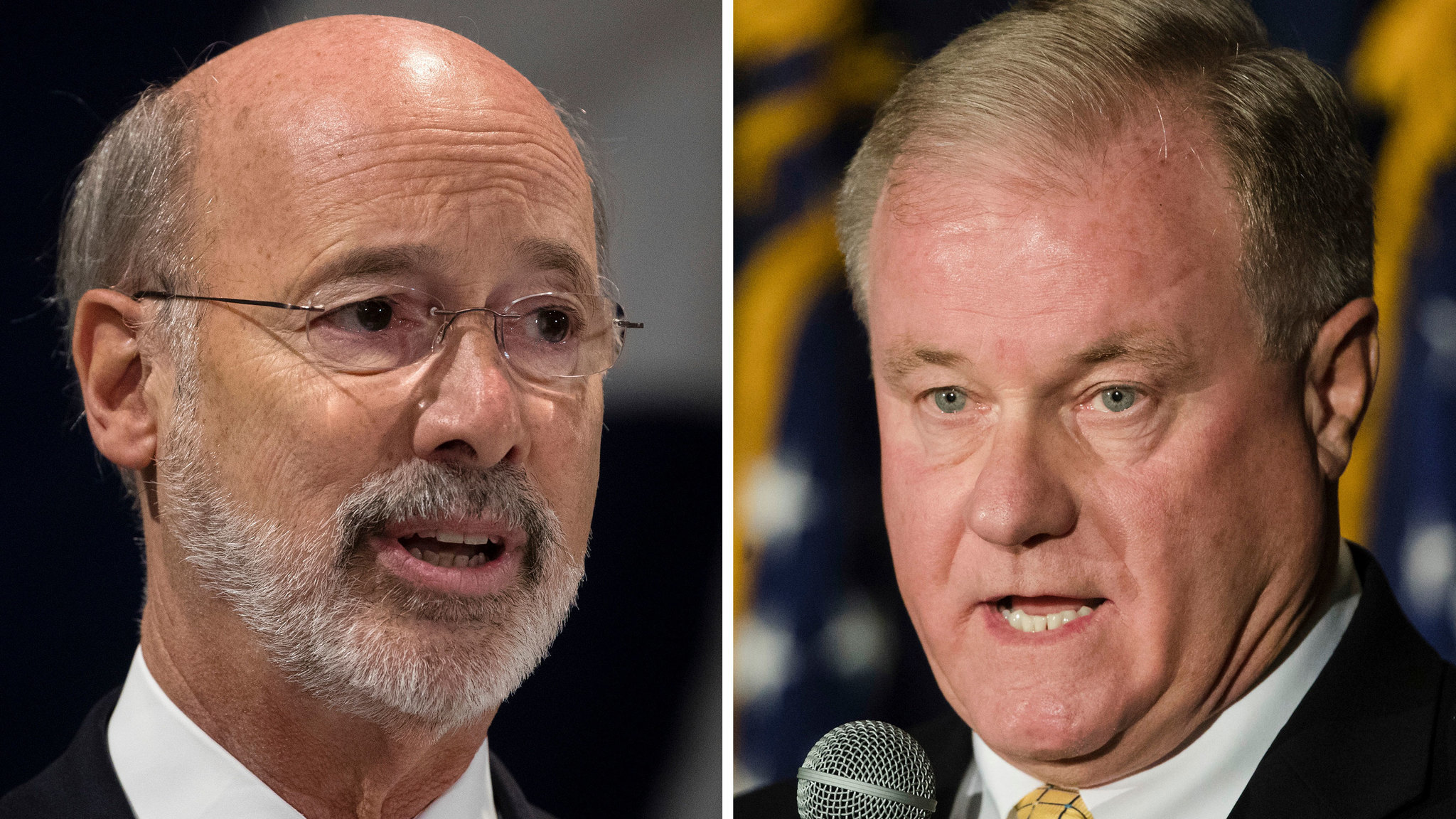 Tom Wolf and Scott Wagner