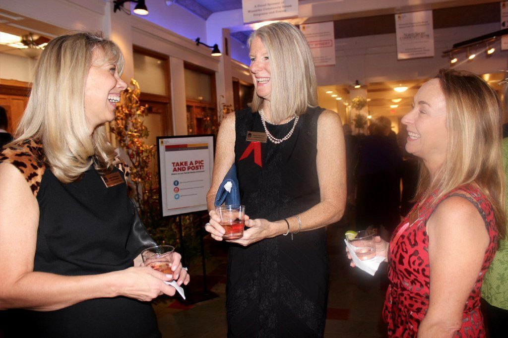 Winnetka Woman's Board President Karen Vorwald (from left) with event co-chairs Cindy Monnig and Annie Challenger.