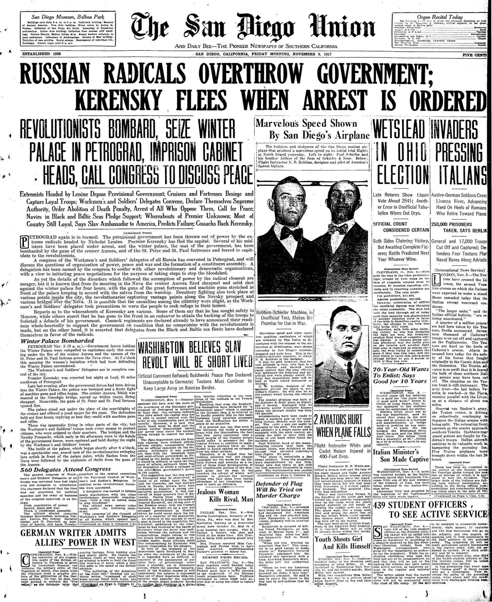 November 9, 1917