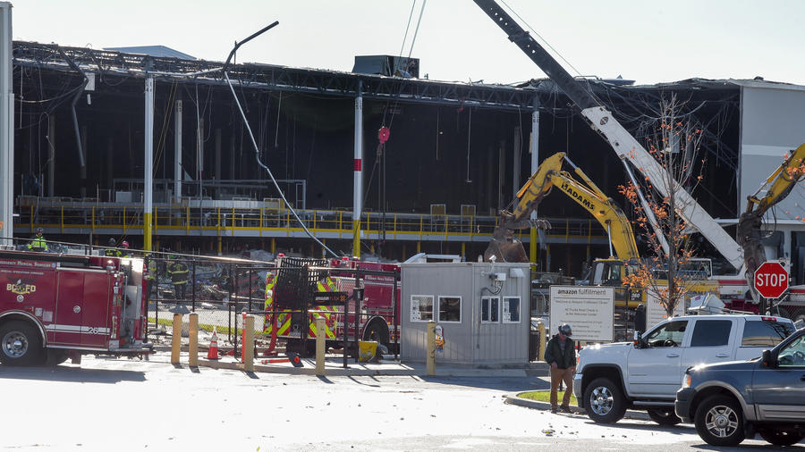 2 Dead In Building Collapse At Amazon Warehouse 900x506