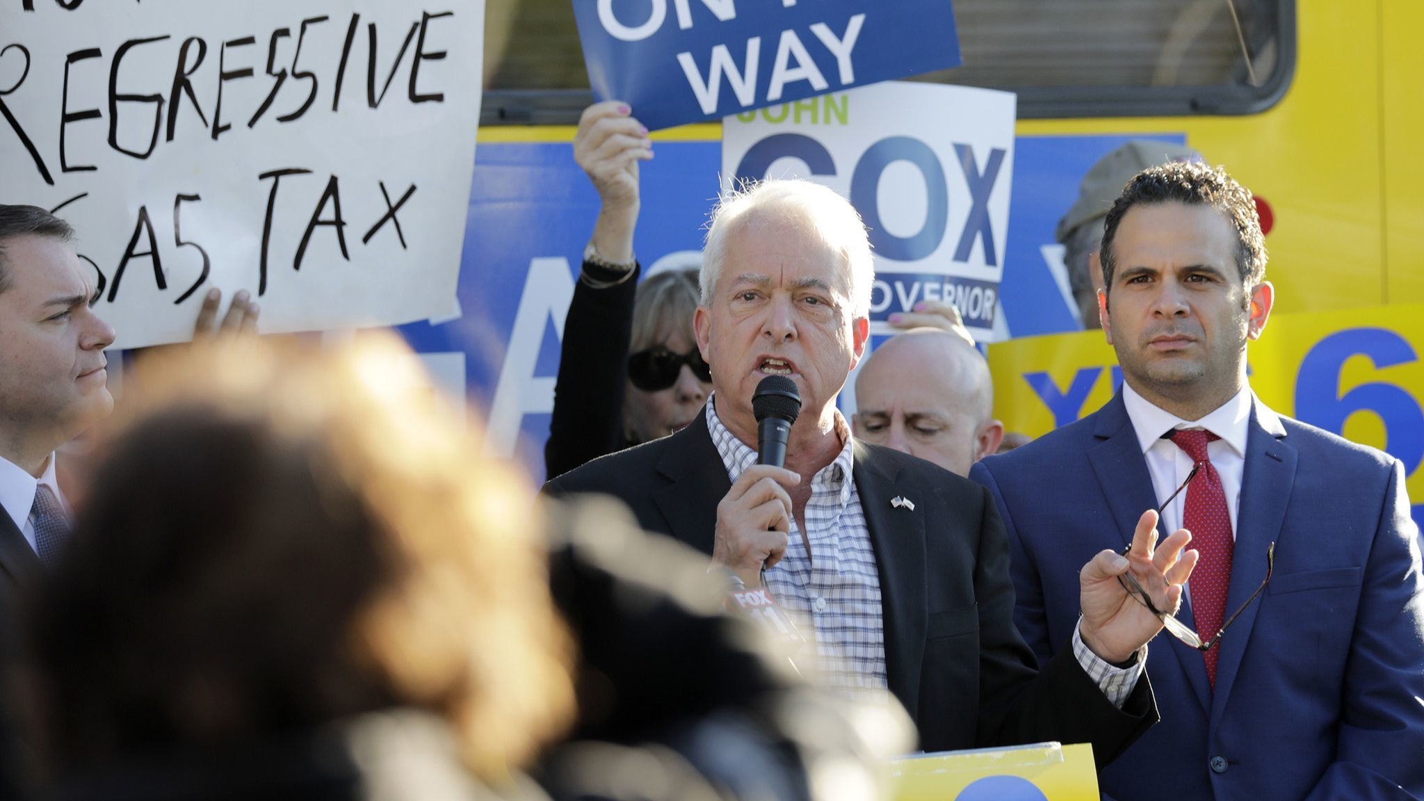 John Cox campaigns for Proposition 6