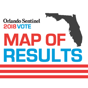 Map Of Florida Election Results.Florida 2018 Vote Orlando Sentinel
