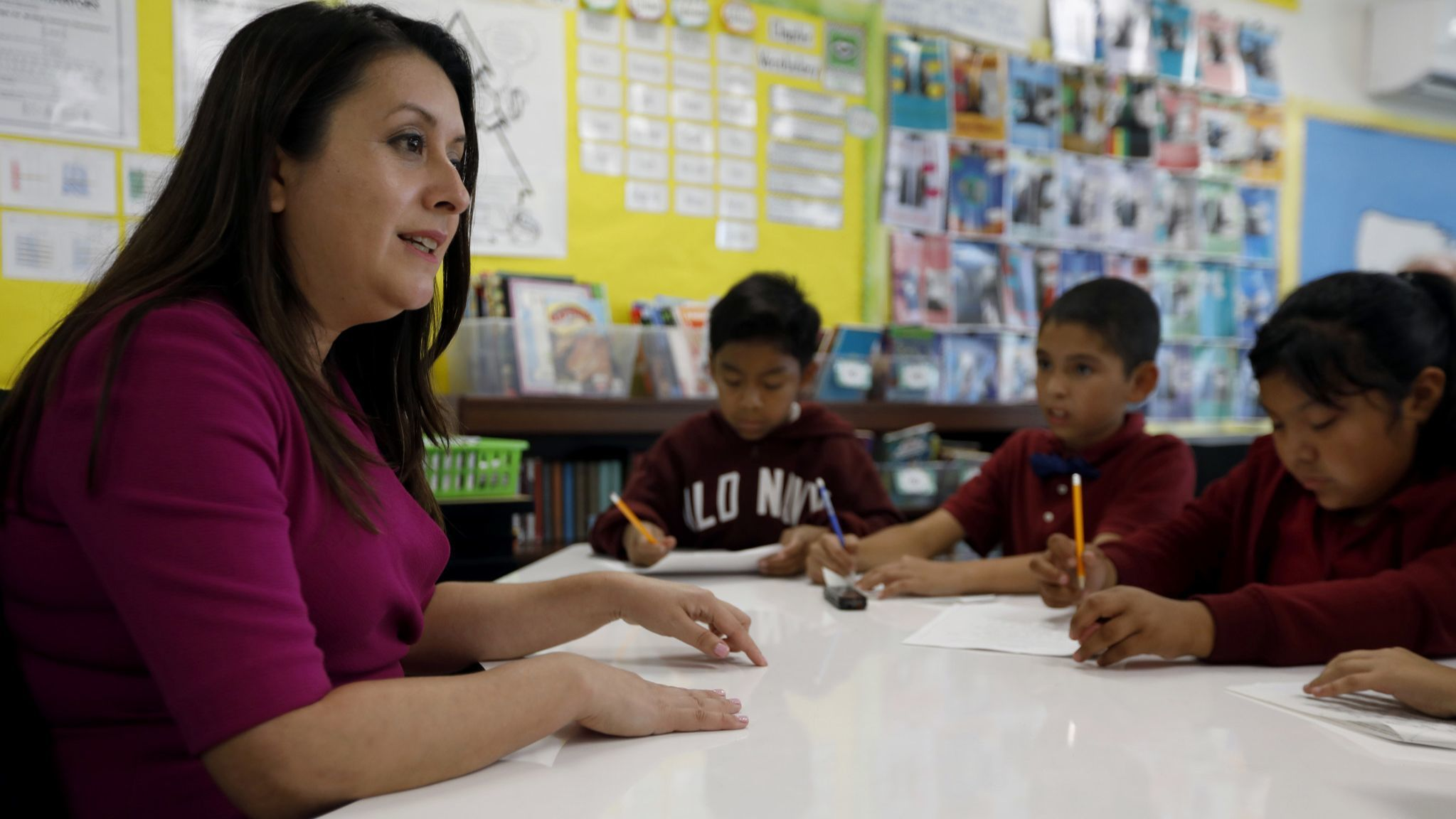 Assemblywoman Luz Rivas visits the Vaughn center