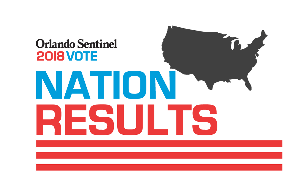 2018 U.S. general election results map - Orlando Sentinel