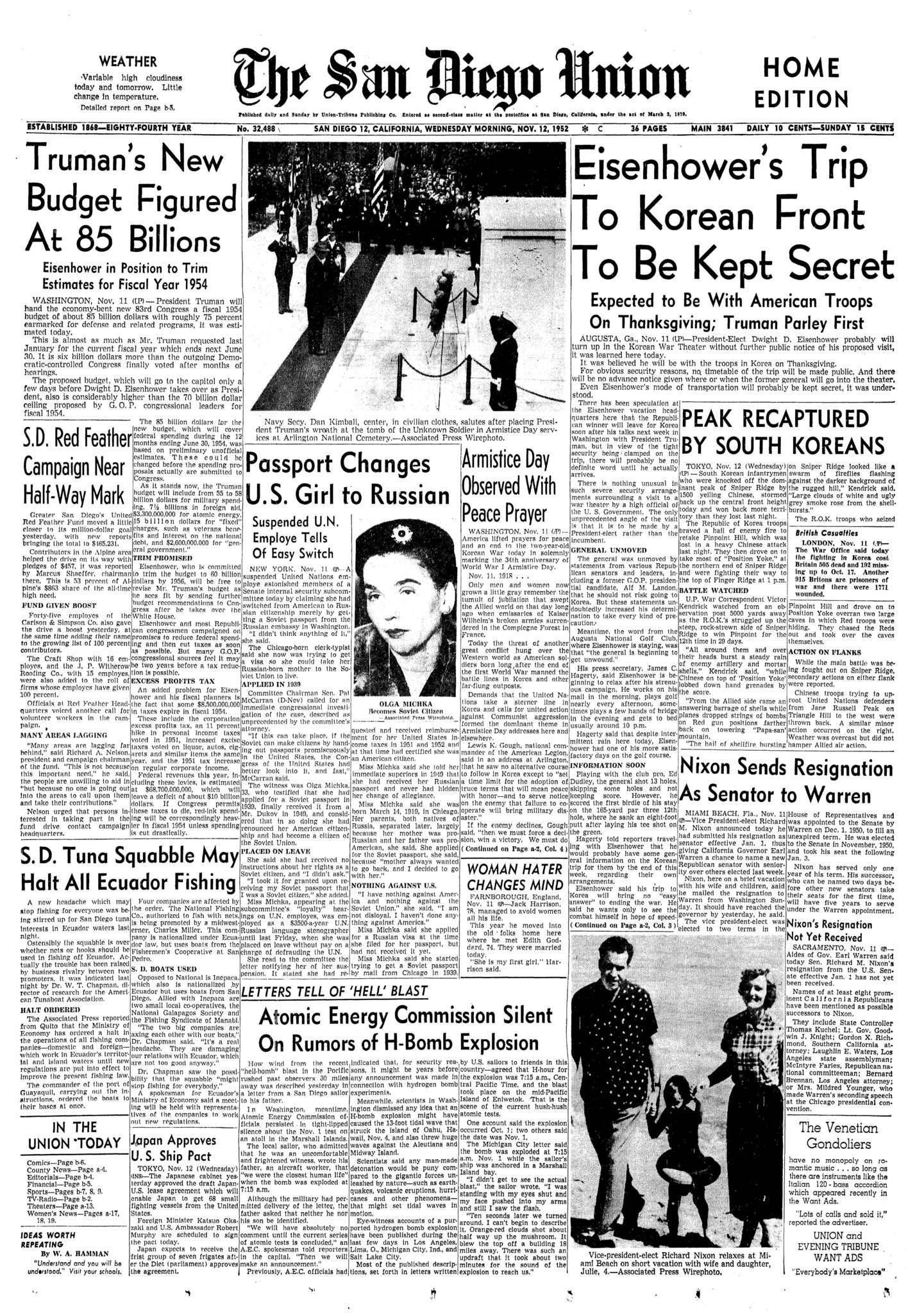 November 12, 1952