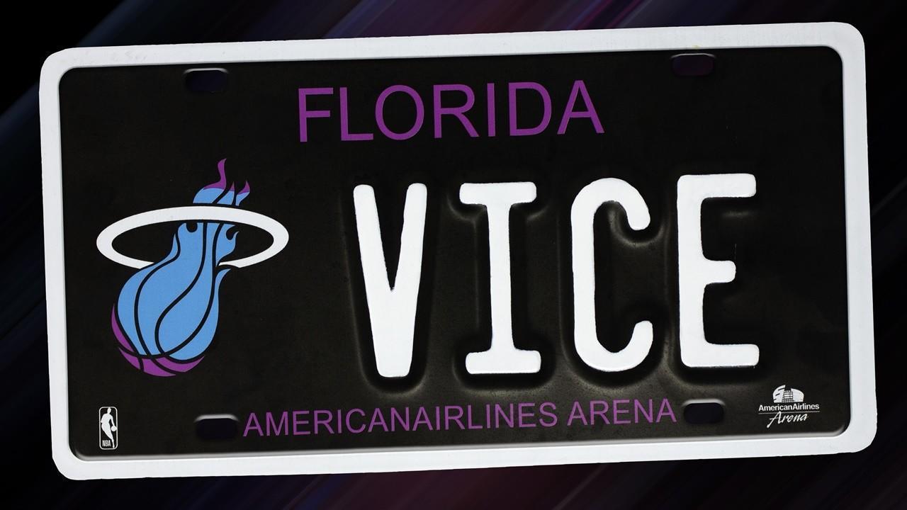 Miami Heat Add  U0026 39 Vice U0026 39  Florida License Plate