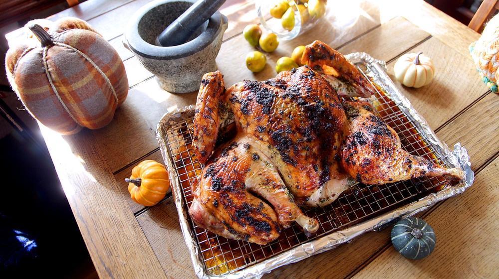 Herb-roasted spatchcocked turkey