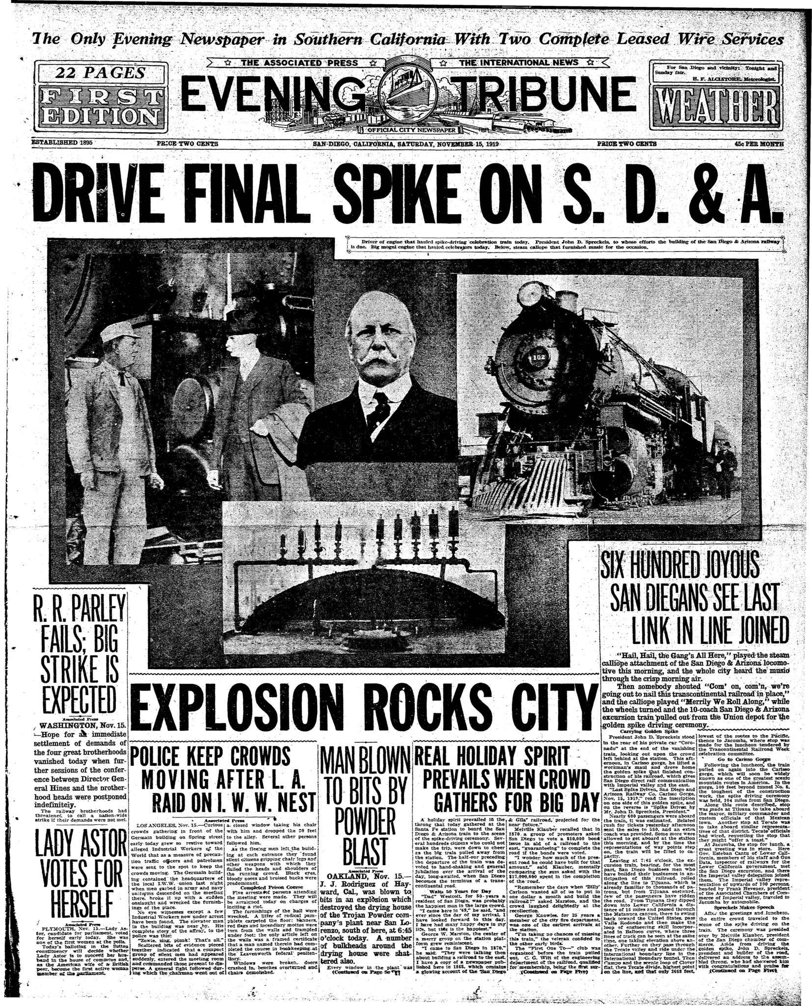 November 15, 1919
