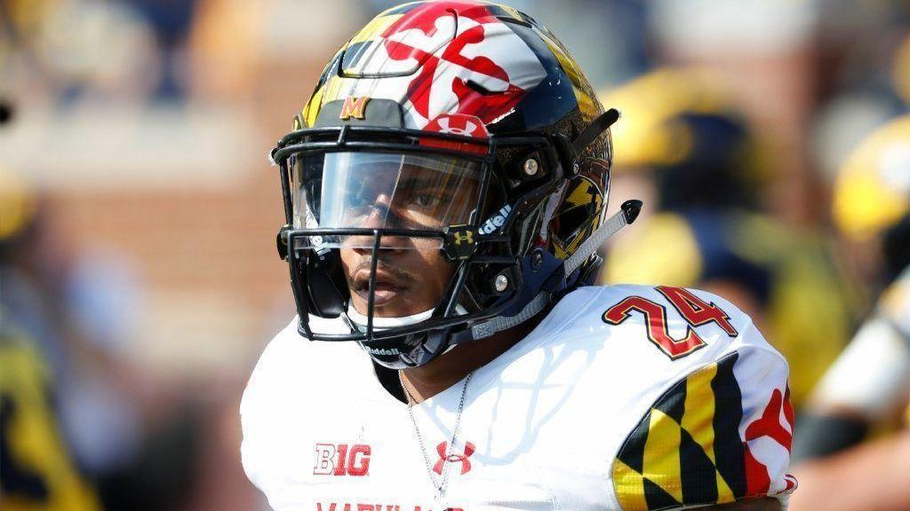 sidelined by calf injury  maryland running back ty johnson