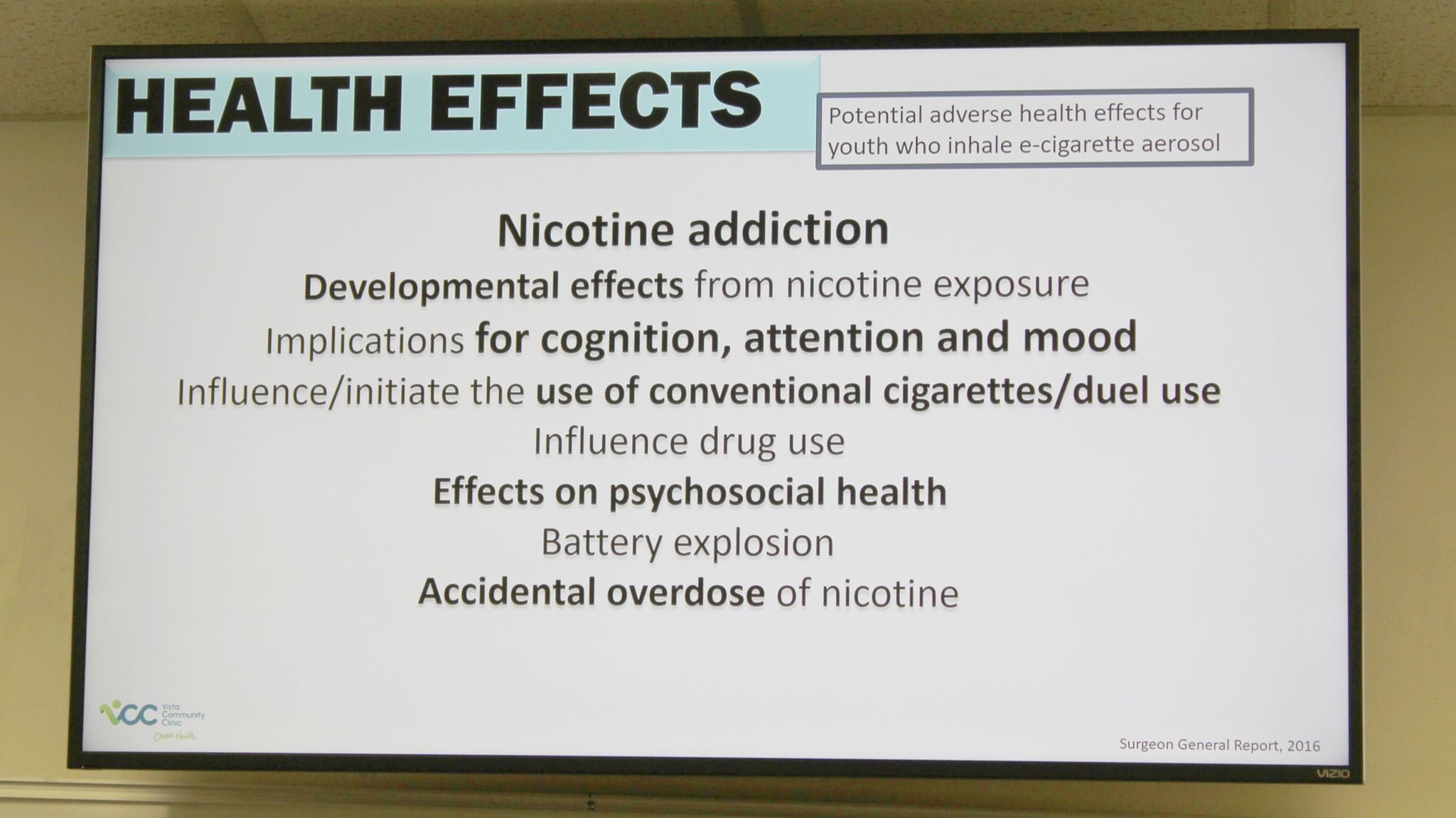 Health effects of nicotine addiction.