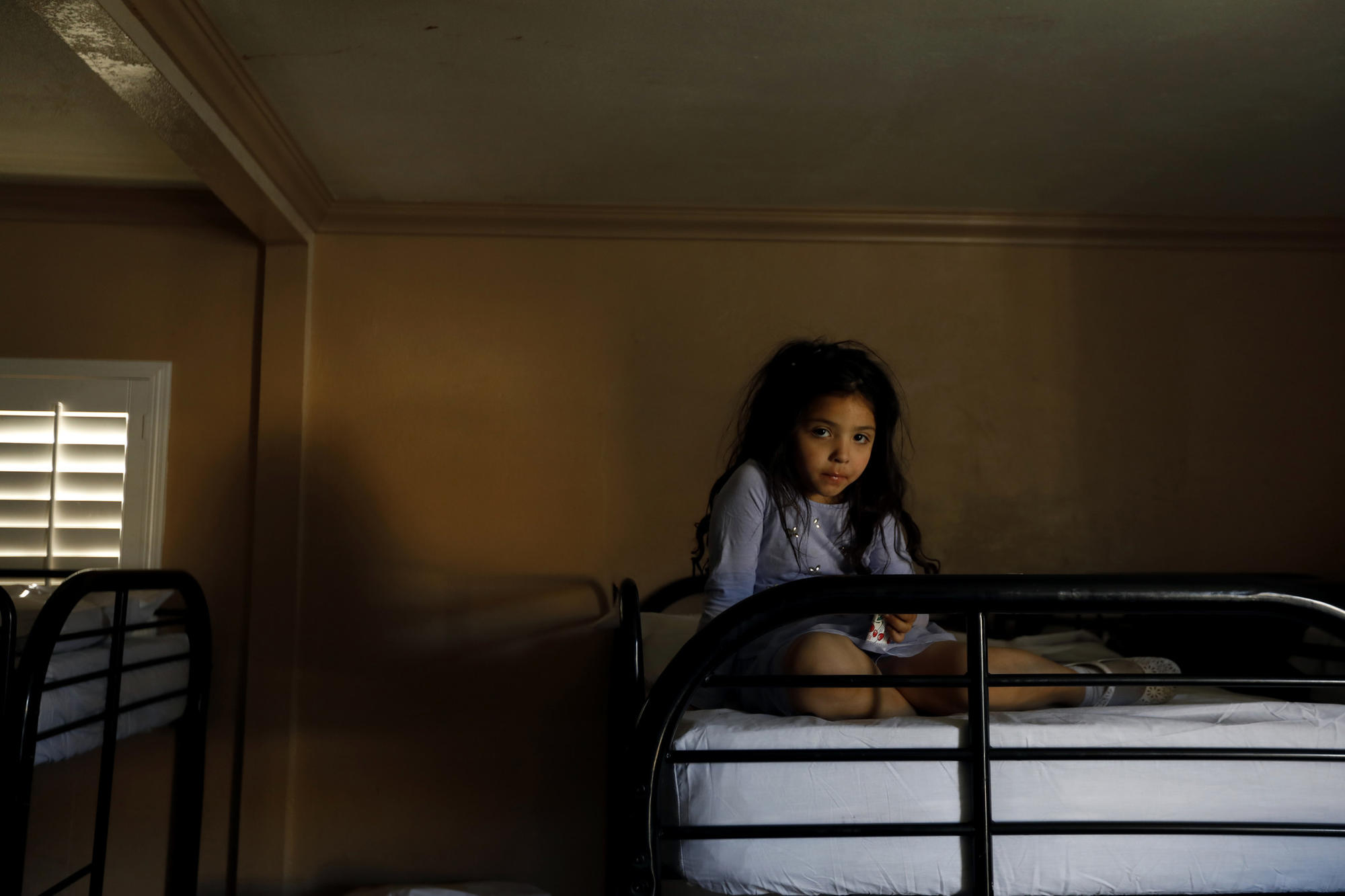 Kimberly on a bunk bed