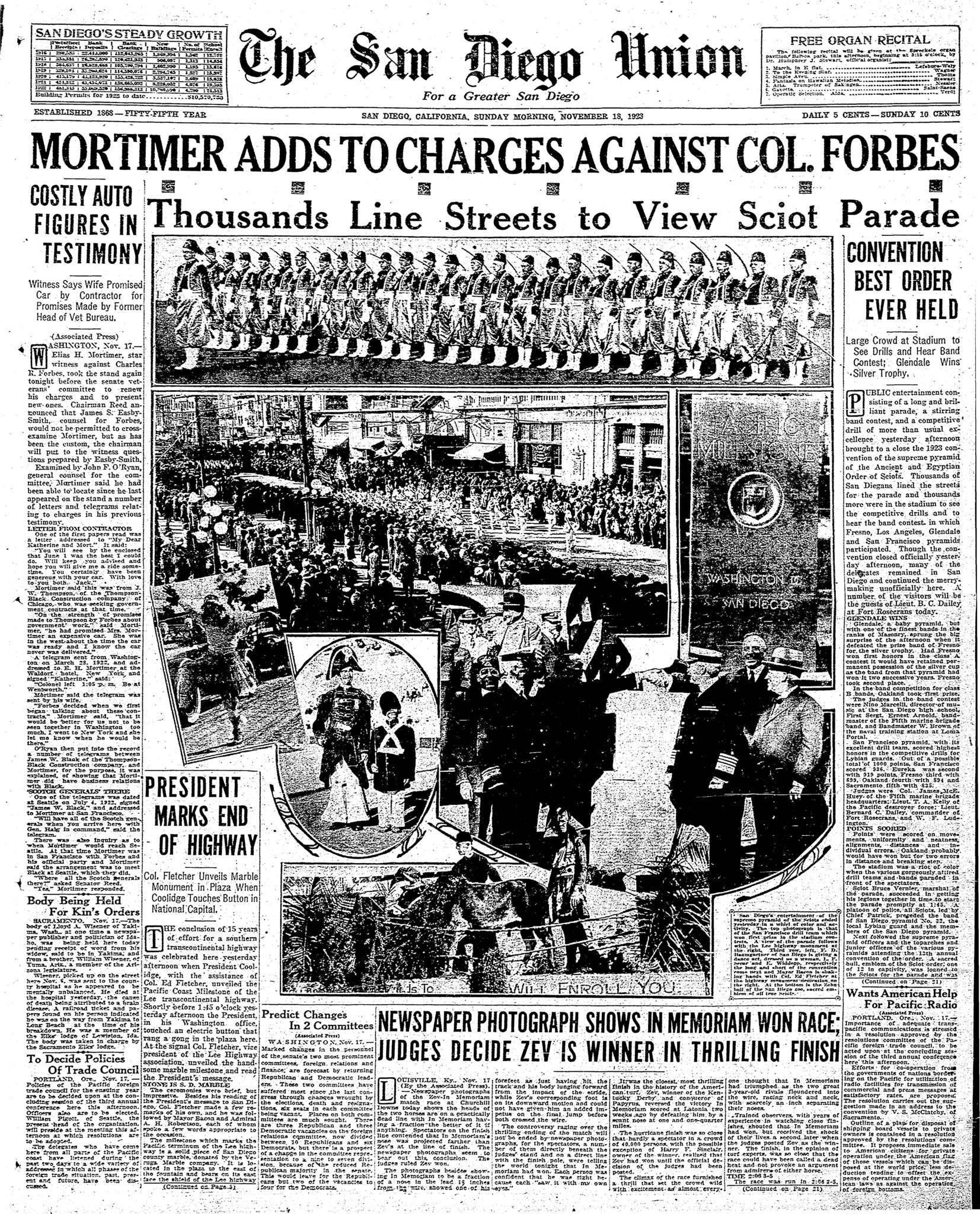 November 18, 1923
