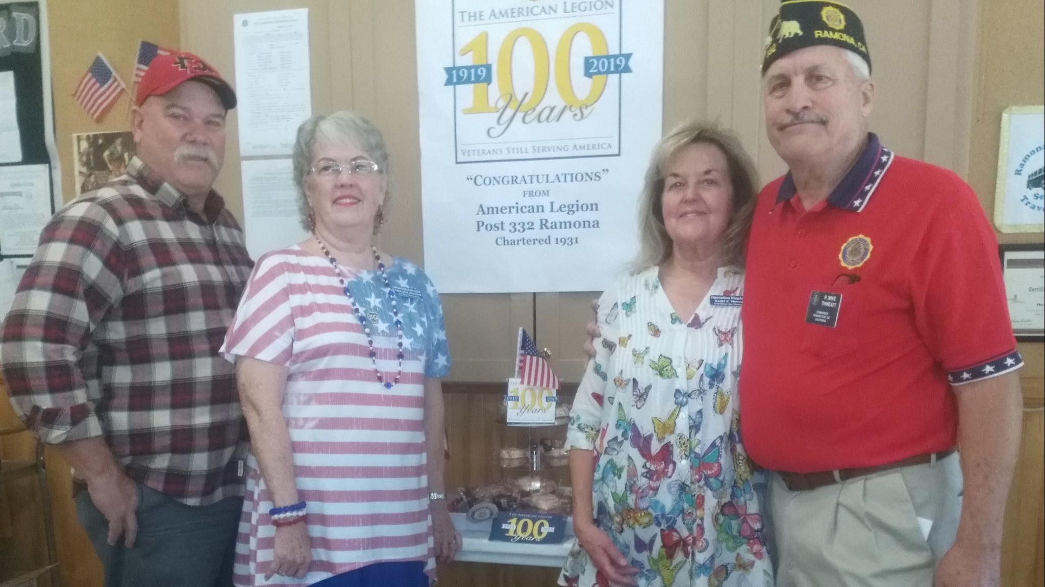 Organizers of a Fifth Annual Operation Flapjacks Veterans Appreciation Breakfast held in Ramona Community Center are, from left, Brad Stewart, Carol Huff, Kathi and Mike Thweatt.