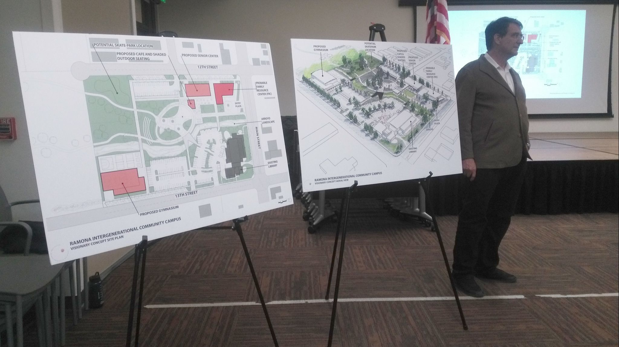 RNT Architects Principal Ralph Roesling shares renderings of a proposed Ramona Intergenerational Community Campus.
