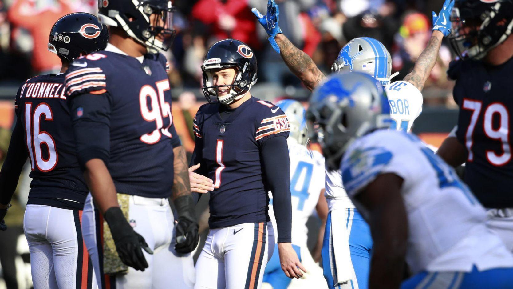 80de0b331a4 'It can't hurt.' Bears kicker Cody Parkey practices at Soldier Field tonight