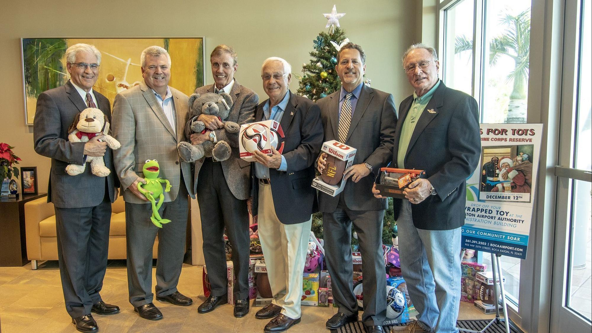 Drop off Toys for Tots donations at Boca Raton airport locations32