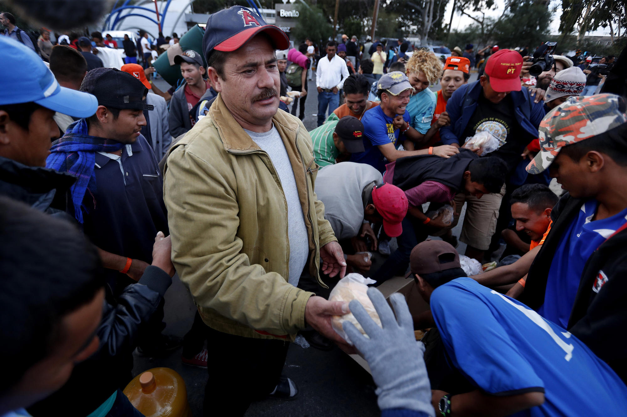 TIJUANA, MEXICO .. - NOV. 14, 2018. Immigrants who are part of the caravan that has made its way fr