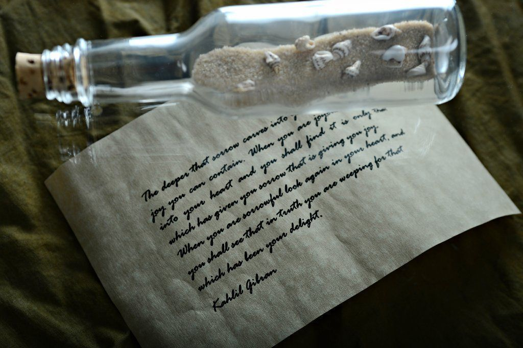 Jamie Lee Metzger message in the bottle