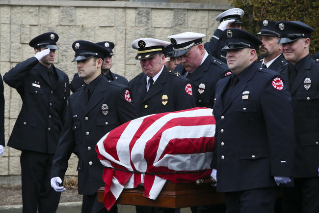 The funeral of Lt. James Carney