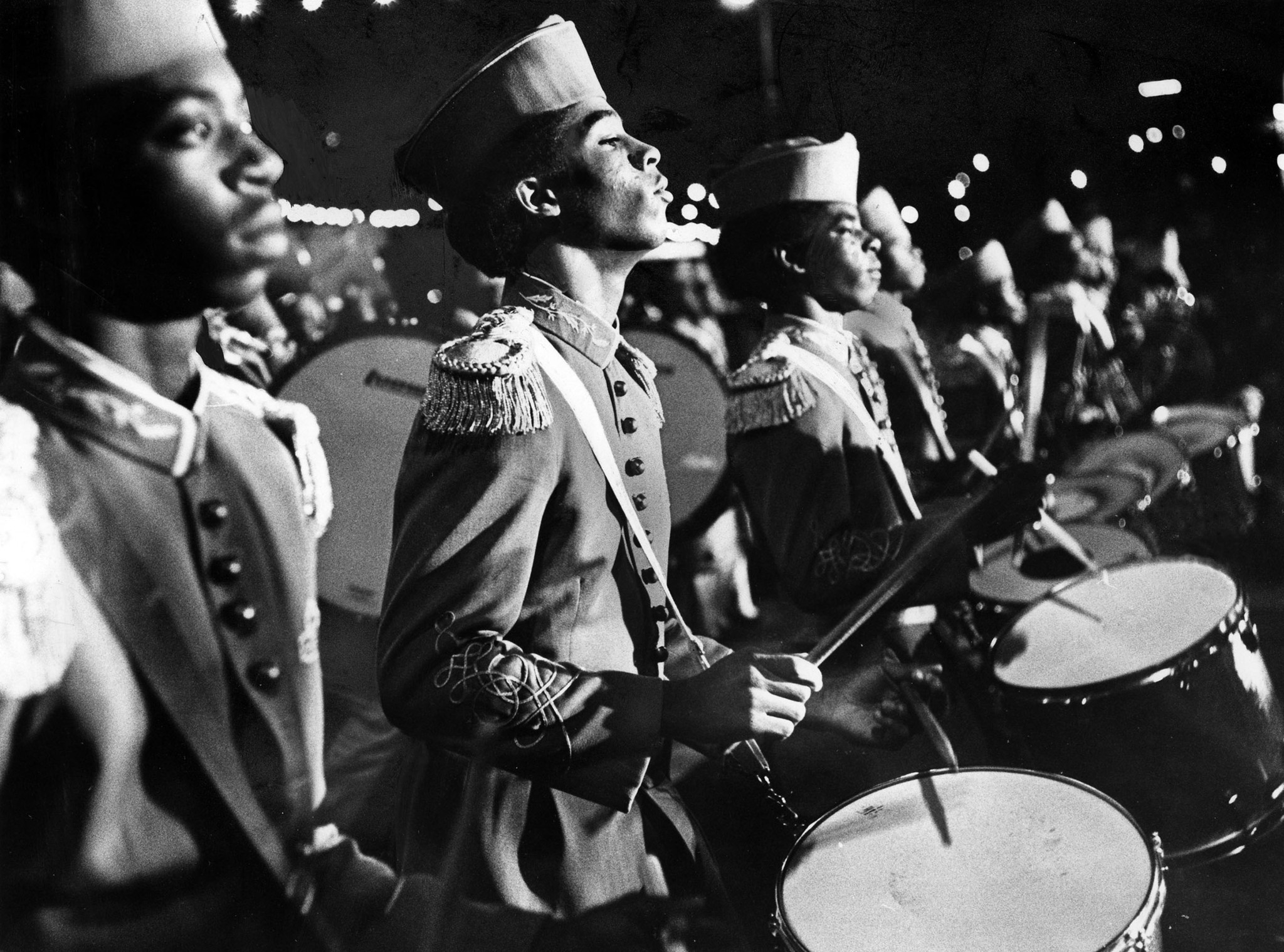 Nov. 28, 1976: Drummers in the Locke High School Band step out at 45th annual Hollywood Santa Claus