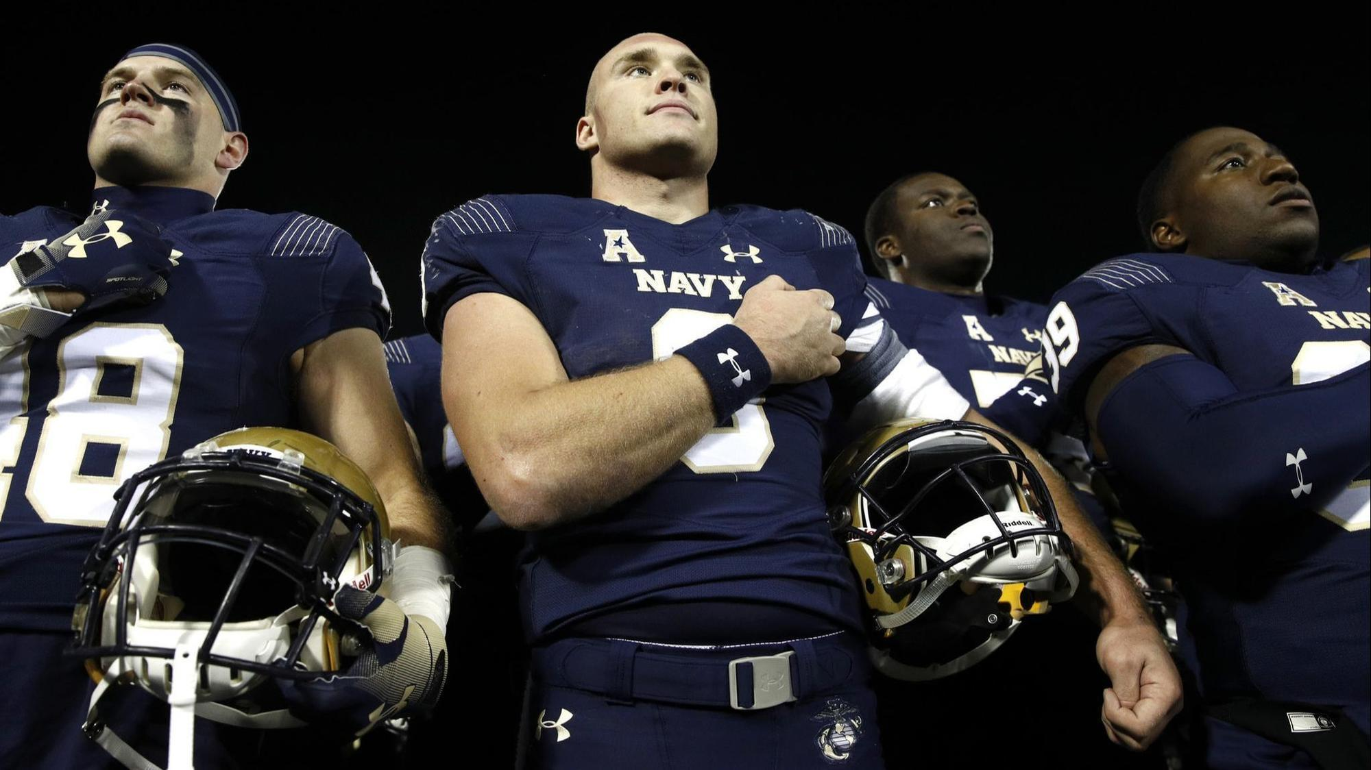Large Numbers Of Navy Football Players Are Choosing The Marine Corps
