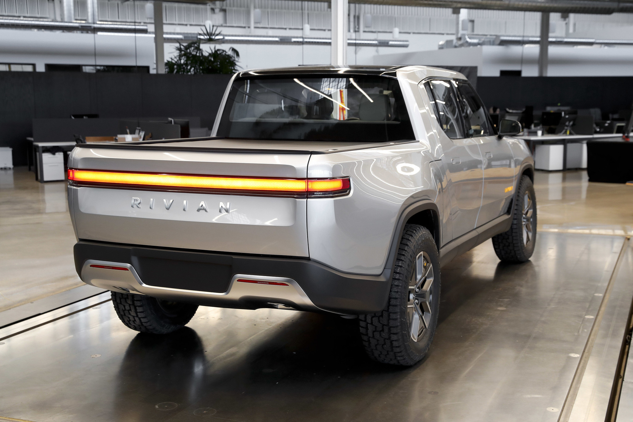 rivian r1t electric pickup truck carroll county times. Black Bedroom Furniture Sets. Home Design Ideas