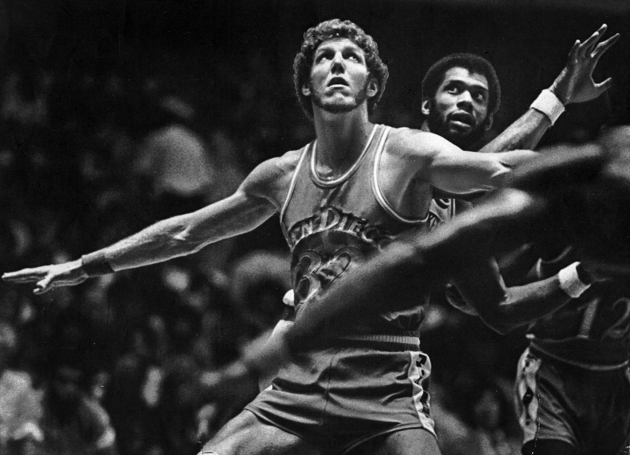 Bill Walton and Kareem Abdul-Jabbar