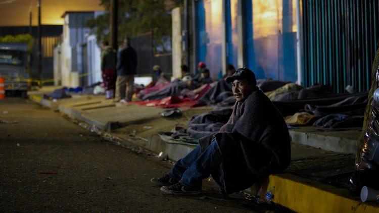 Life for Central American migrants settles in at Tijuana