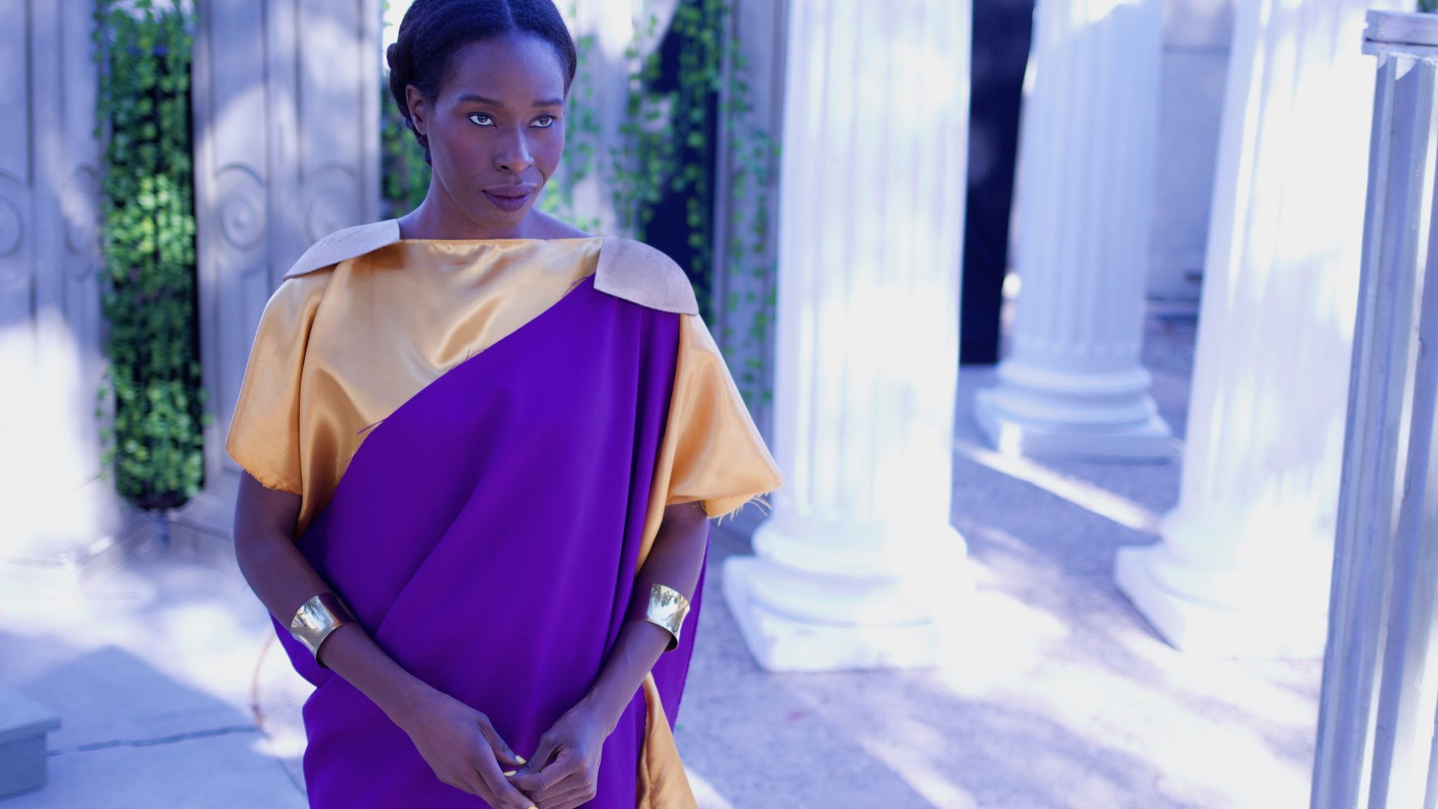 Nefe Iredia is Julius Caesar in the Irreverent Shakespeare Project's all-female production.
