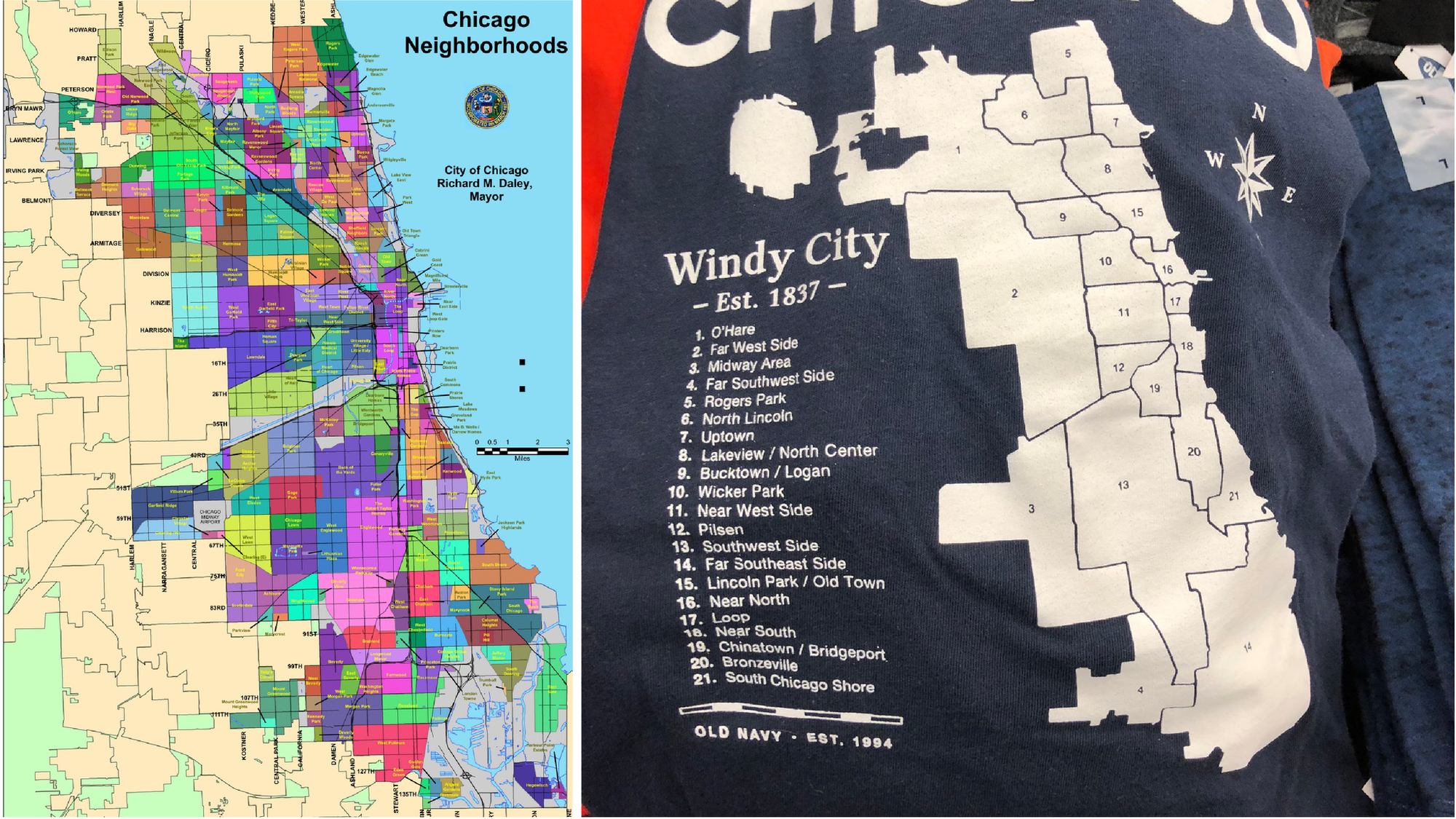 Old Navy Pledges To Replace T Shirt Design Dubbed Worst Chicago Map