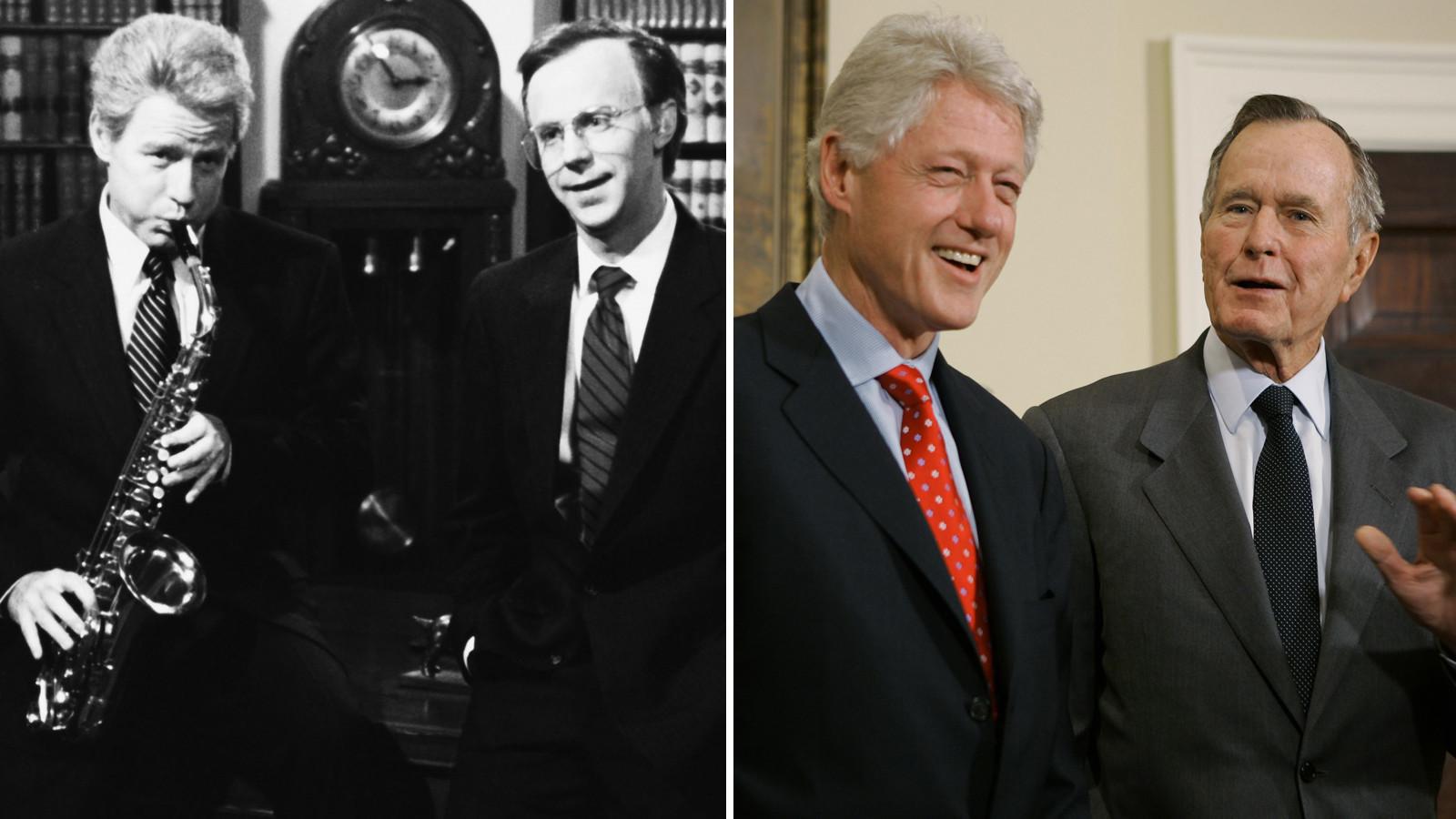 Hartman, Carvey, Clinton, Bush