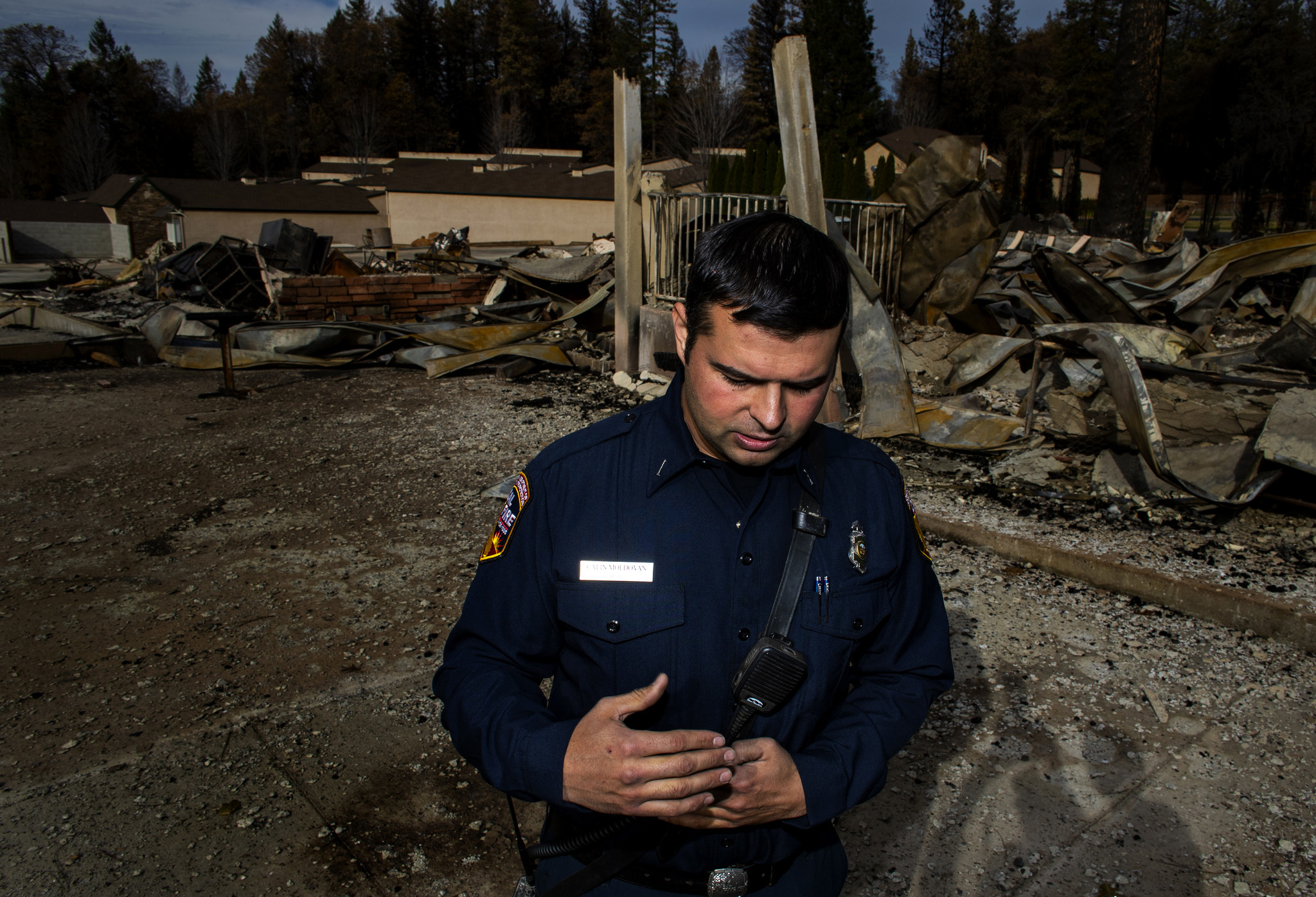 Cal Fire engineer Calin Moldovan