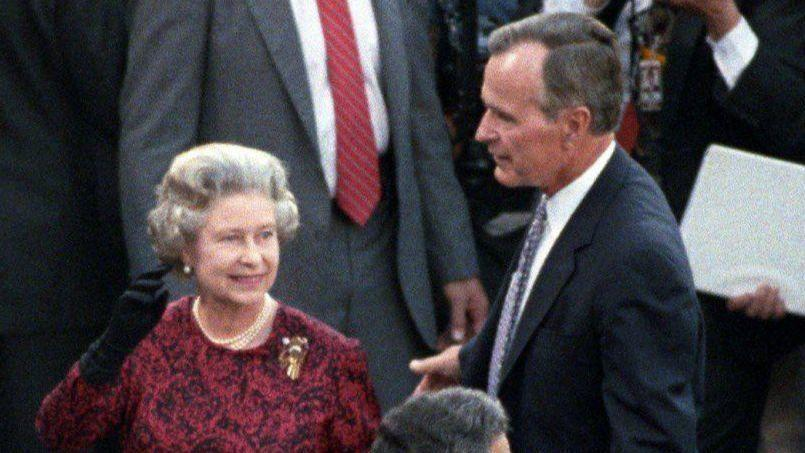 Sun Archives When President George H W Bush And Queen Elizabeth