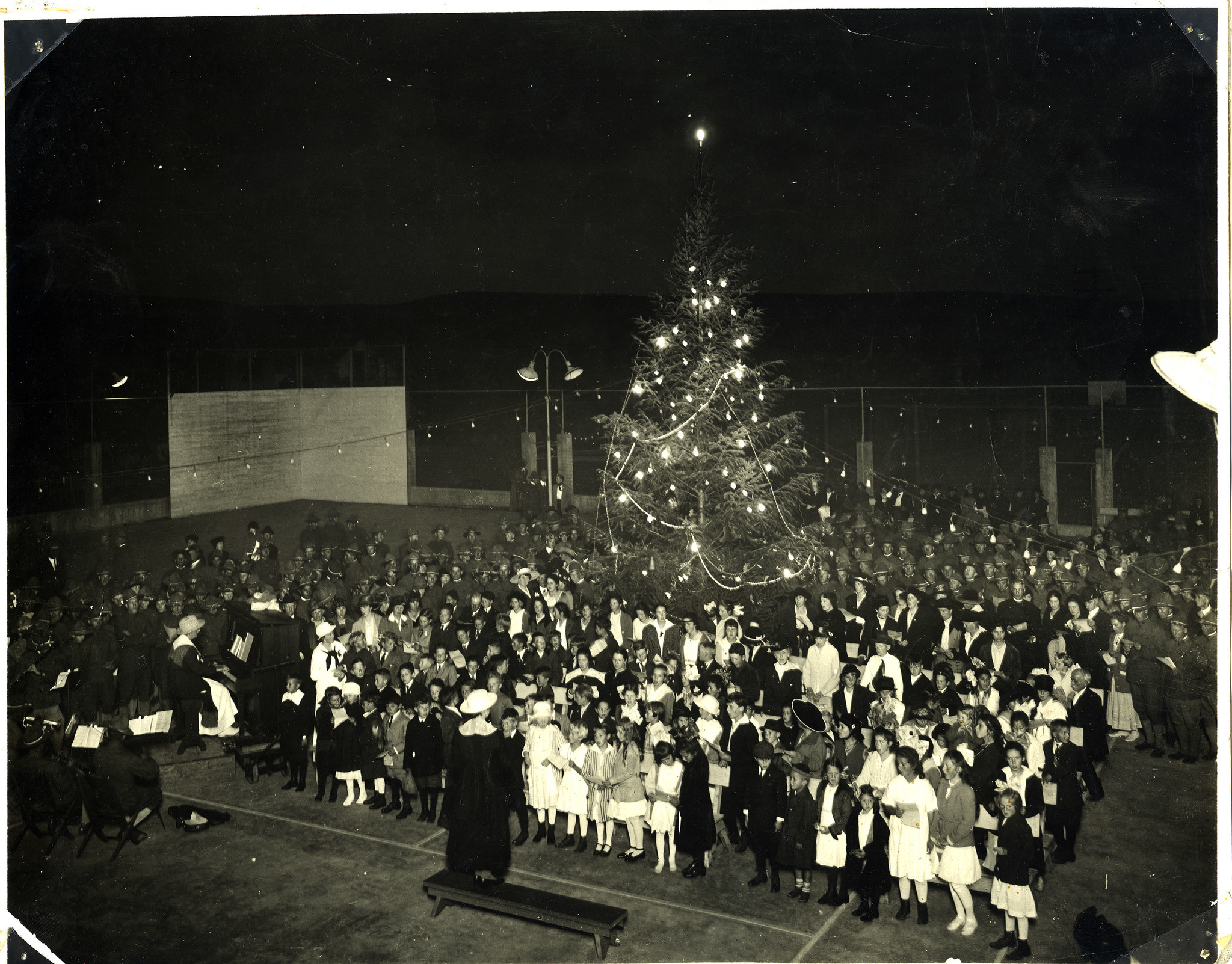 This is how Christmas 1917 looked on the La Jolla Rec Center playground.