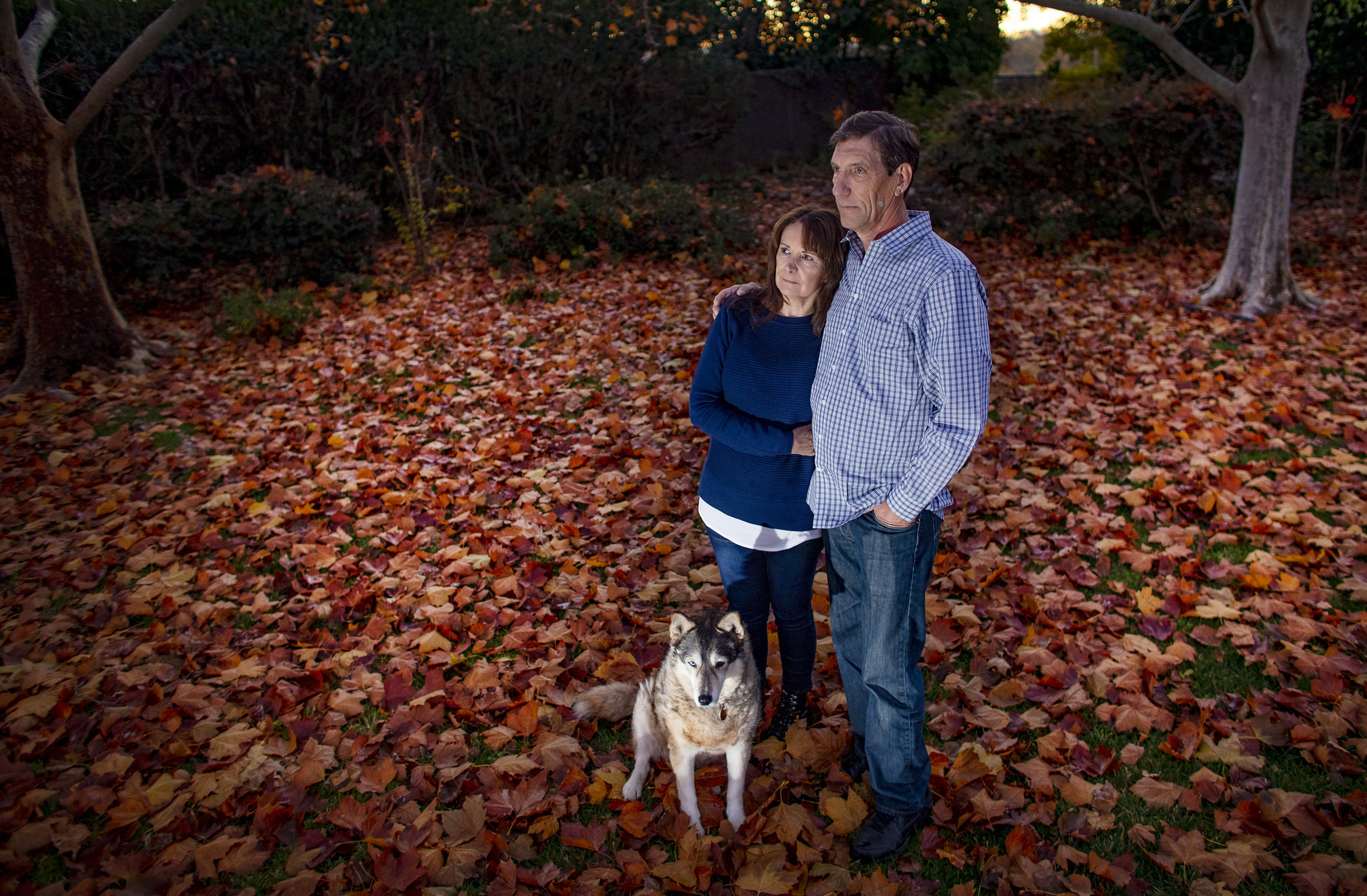 David Demaree with his wife and dog