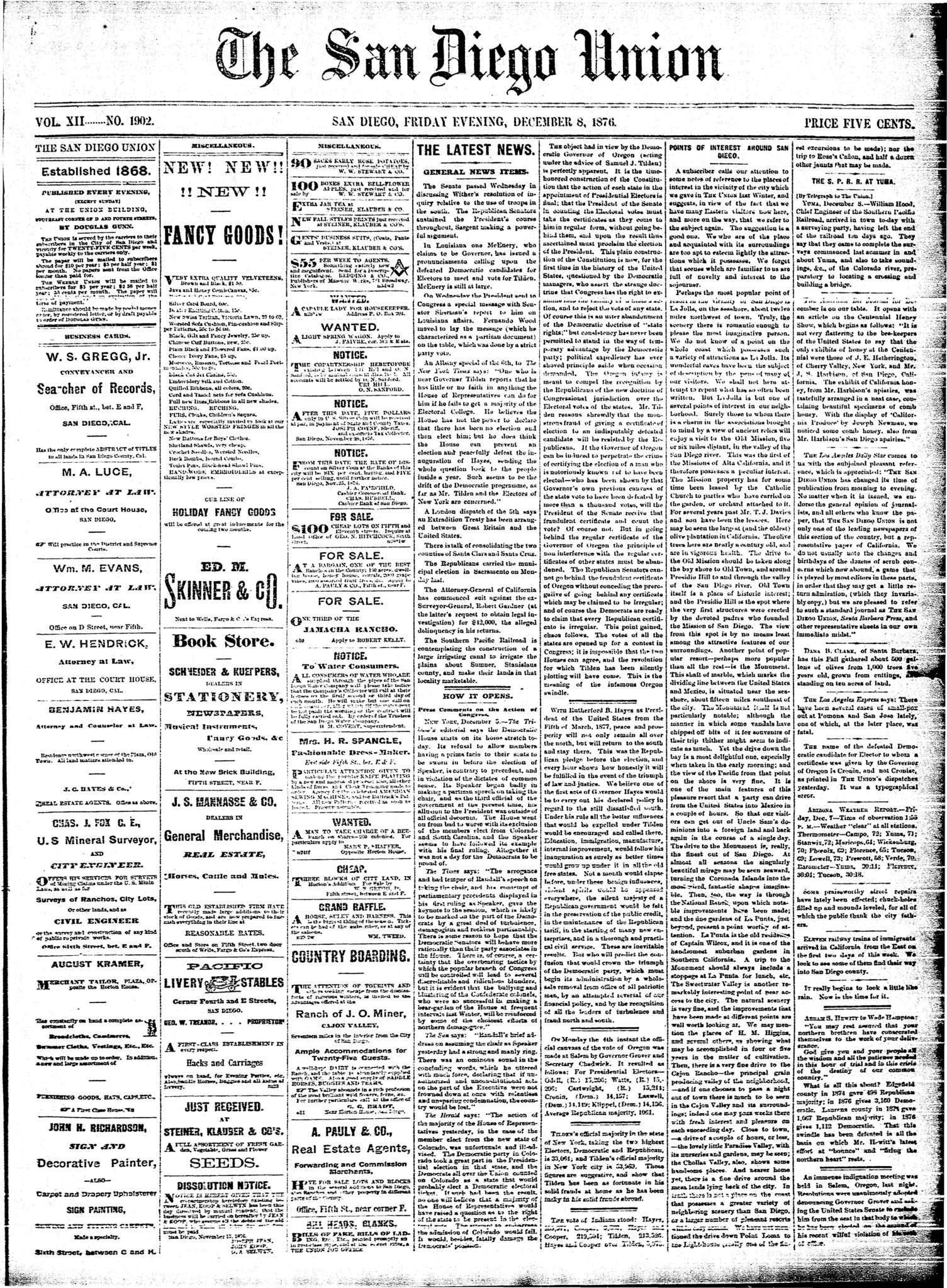 December 8, 1876