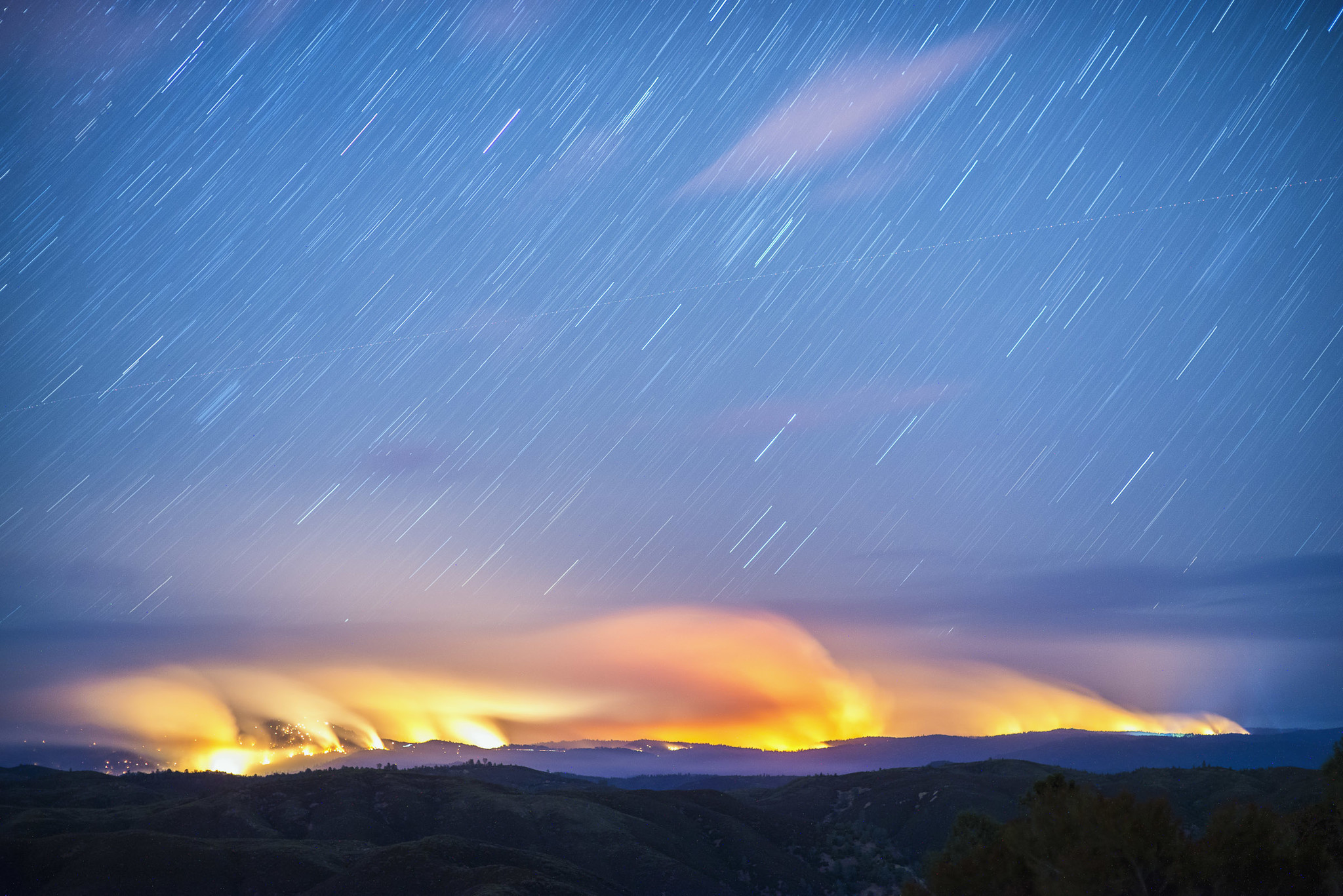 "California's Rim fire, ""Terra Flamma: Wildfire at Night"" by Stuart Palley"