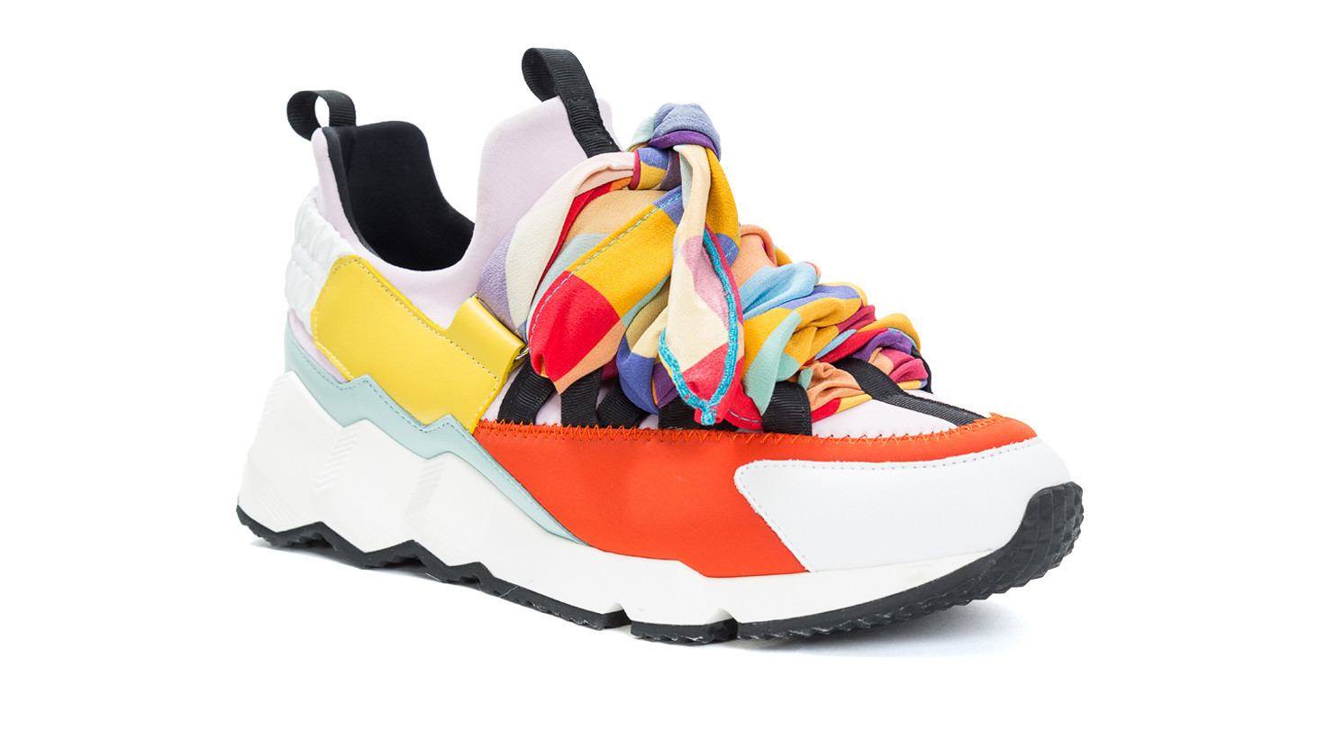 LHD x Pierre Hardy color-blocked Trek Comet neoprene and leather sneaker, $645 at The Webster at Sou